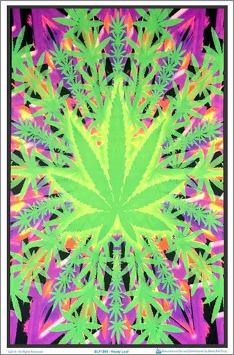 Posters Psychedelic Heady Leaf - Black Light Poster 100049