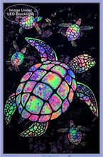 Load image into Gallery viewer, Posters Psychedelic Painted Turtles - Black Light Poster 100075