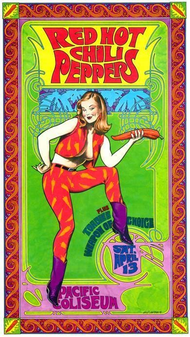 Red Hot Chili Peppers Concert Poster Trippystore