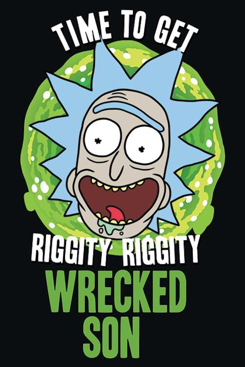Posters Rick and Morty - Time to Get Wrecked - Poster 100385