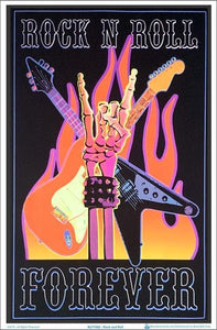 Posters Rock and Roll Forever - Black Light Poster 100153