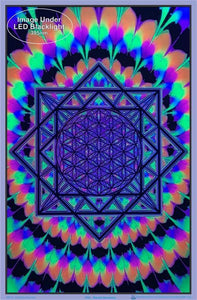 Posters Sacred Geometry - Black Light Poster 012303