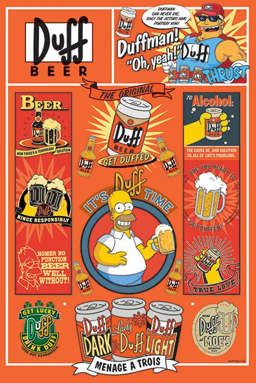 Posters Simpsons - Duff Beer - Poster 101076