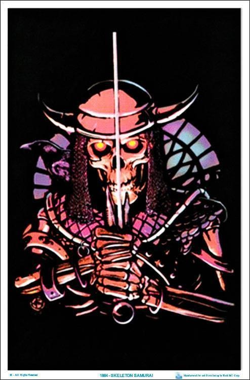 Posters Skeleton Warrior - Black Light Poster 100146