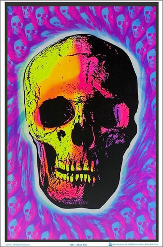 Posters Skull Trip - Black Light Poster 000614