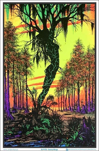 Posters Swamp Mirage - Black Light Poster 000615