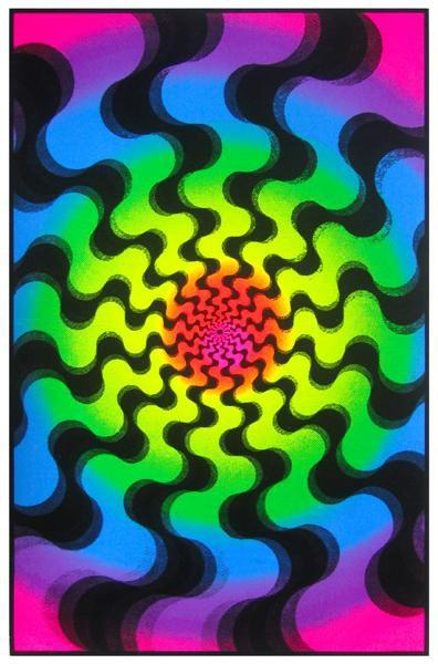 Posters Swirls - Black Light Poster 000526