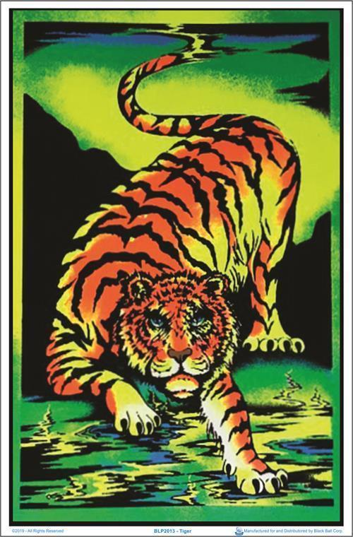 Posters Tiger - Black Light Poster 100137