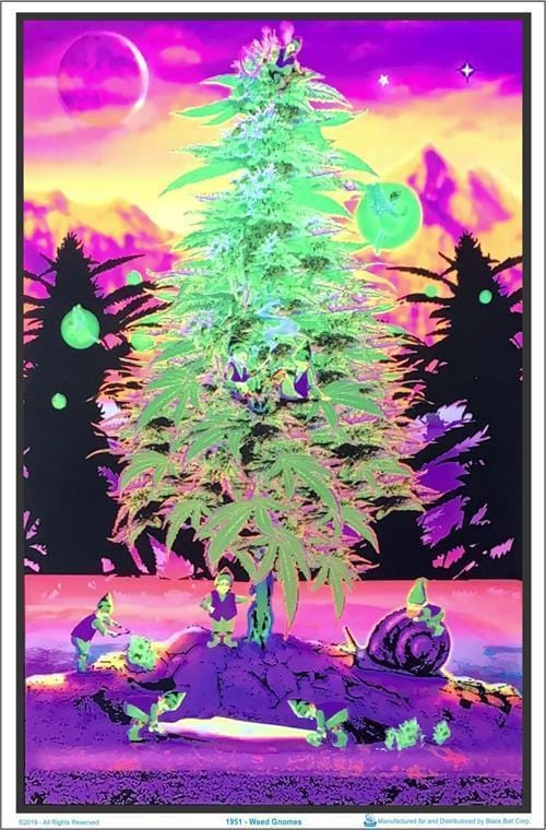 Posters Weed Gnomes - Black Light Poster 012304