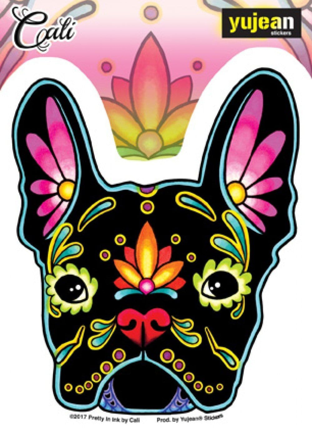 Stickers Cali French Bulldog Day of the Dead - Sticker 100570