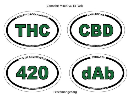 Stickers Cannabis - 4 Sticker Set 008413