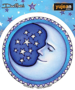 Stickers Dan Morris - Starry Moon - Window Sticker 100556