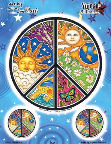 Stickers Dan Morris - Sun Peace Sign - Sticker 100560