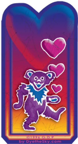 Stickers Grateful Dead - Bear Heart - Sticker 100497