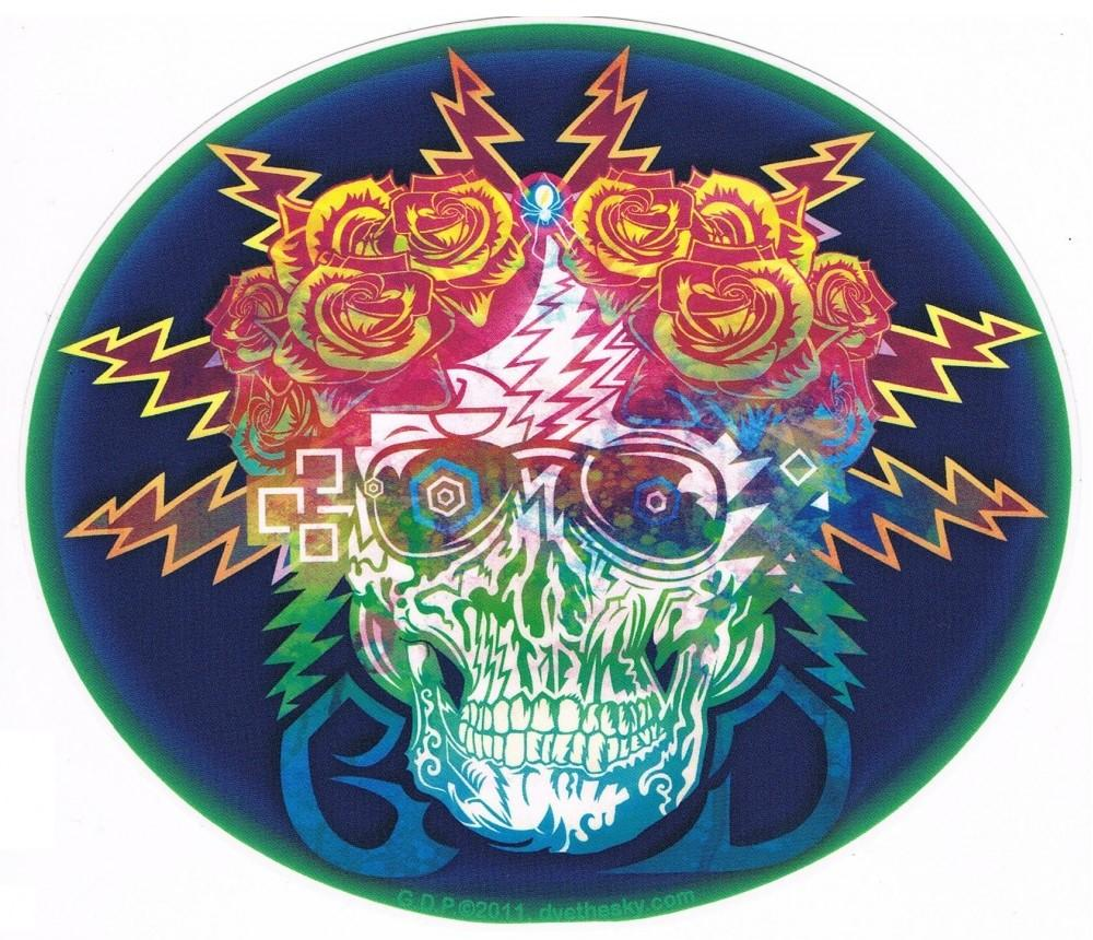 Stickers Grateful Dead - Electric Dimensions Skull - Sticker 100527