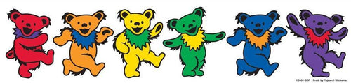 Stickers Grateful Dead - Rainbow Dancing Bears - Sticker 001956