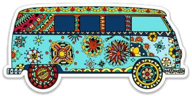 Stickers Hippie Van - Sticker