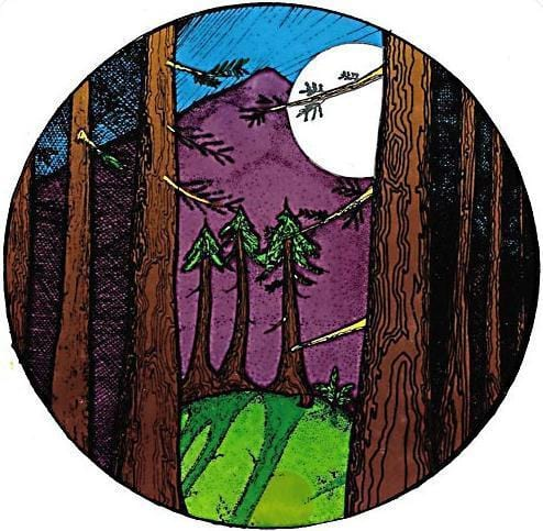 Stickers Midnight Mountain - Sticker 008377