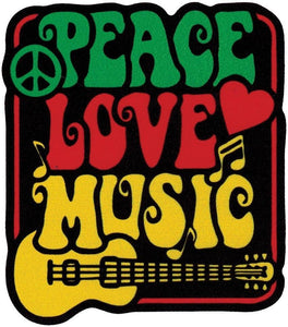 Stickers Peace, Love, Music - Sticker 010114