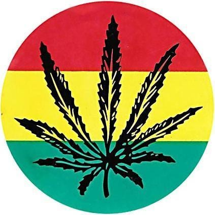 Stickers Rasta Marijuana Leaf - Sticker 008363