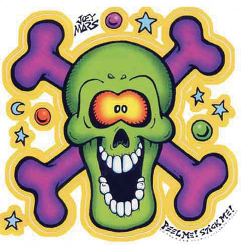 Stickers Screaming Skull and Bones - Sticker 100569