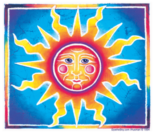 Stickers Sun Face - Sticker 100549