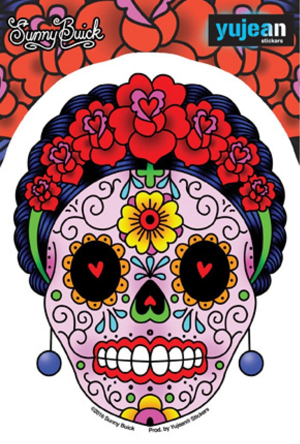 Stickers Sunny Buick Calavera Frida Sugar Skull - Sticker 100565