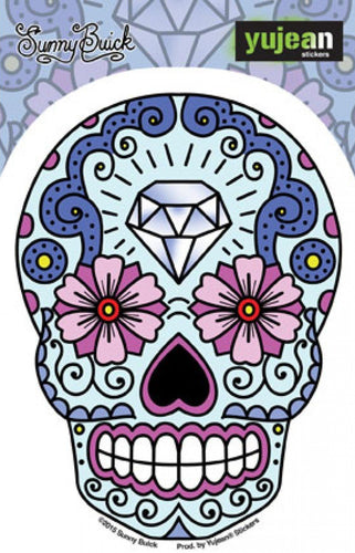 Stickers Sunny Buick Diamond Forehead Sugar Skull - Sticker 100566