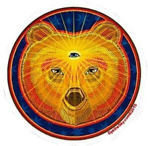 Stickers Third Eye Bear - Window Sticker 008364