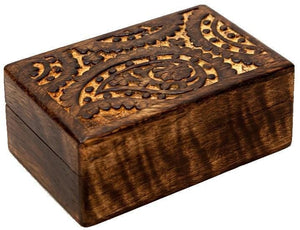 Storage Carved Paisley - Wooden Storage Box 100232
