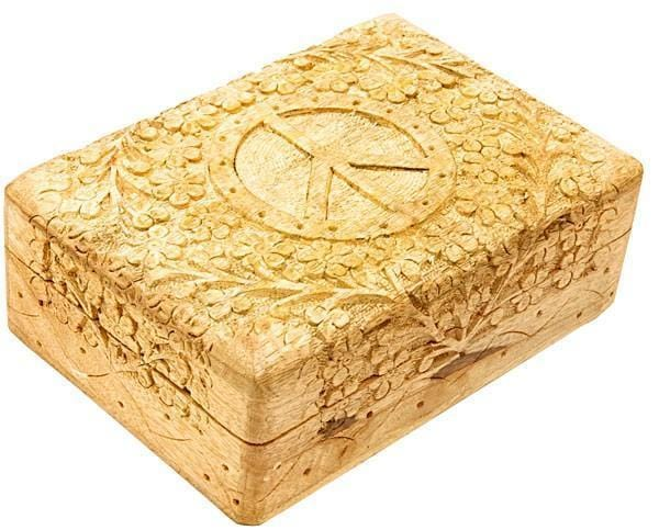 Storage Natural Peace - Carved - Storage Box 005429
