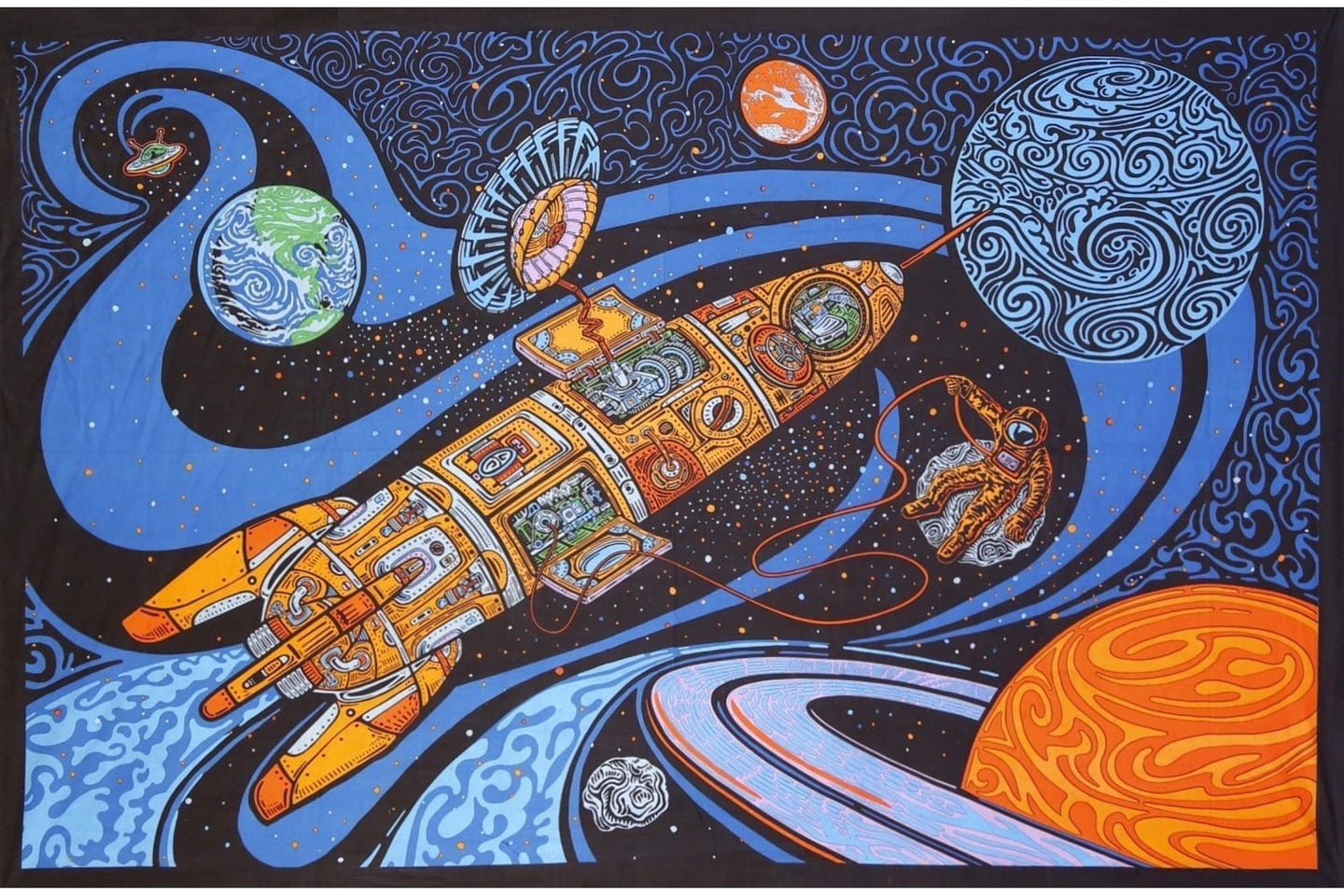 Tapestries 3D - Blast Off Outer Space - Tapestry 100245