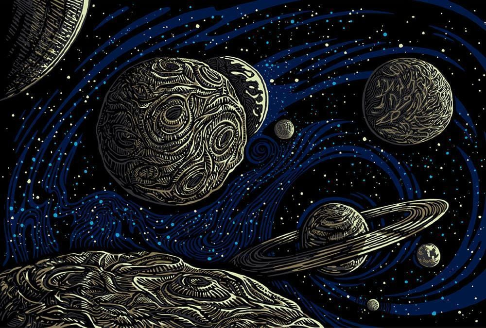 Tapestries 3D - Galactic Outer Space - Tapestry 012577