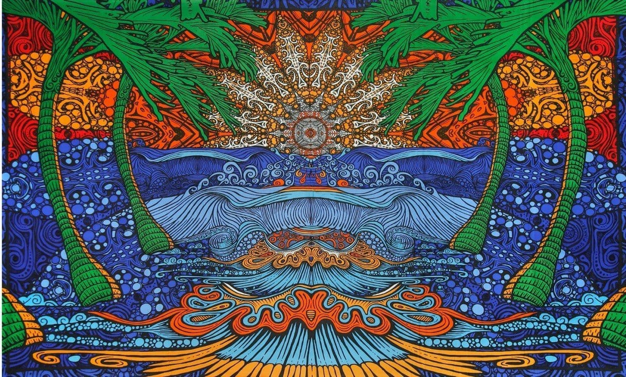 Tapestries 3D - Glow in the Dark - Epic Surf Wave - Tapestry 100182