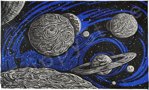 Tapestries 3D - Glow in the Dark - Galactic Outer Space - Tapestry 013329