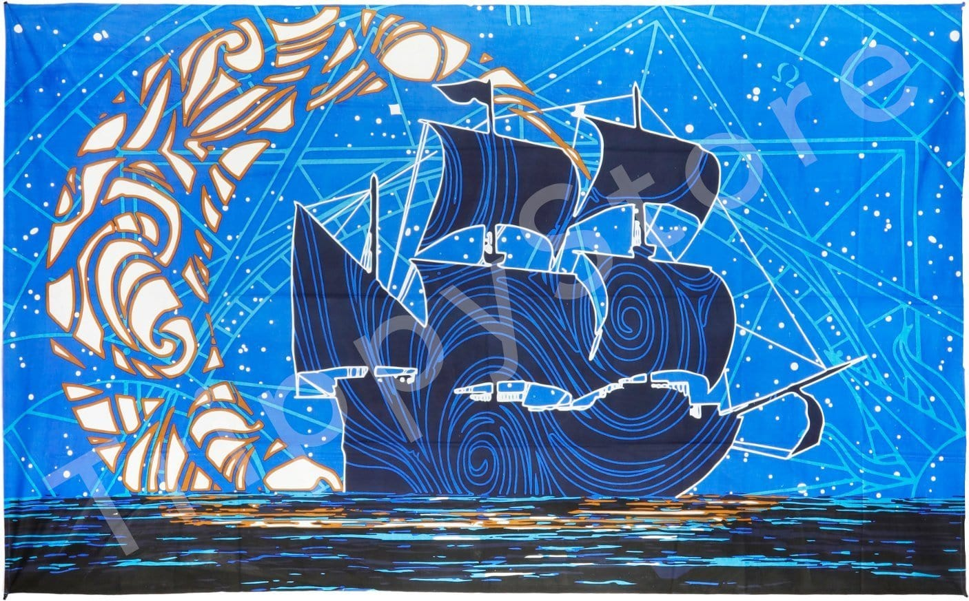 Tapestries 3D - Glow in the Dark - Moon Ship - Tapestry 013330