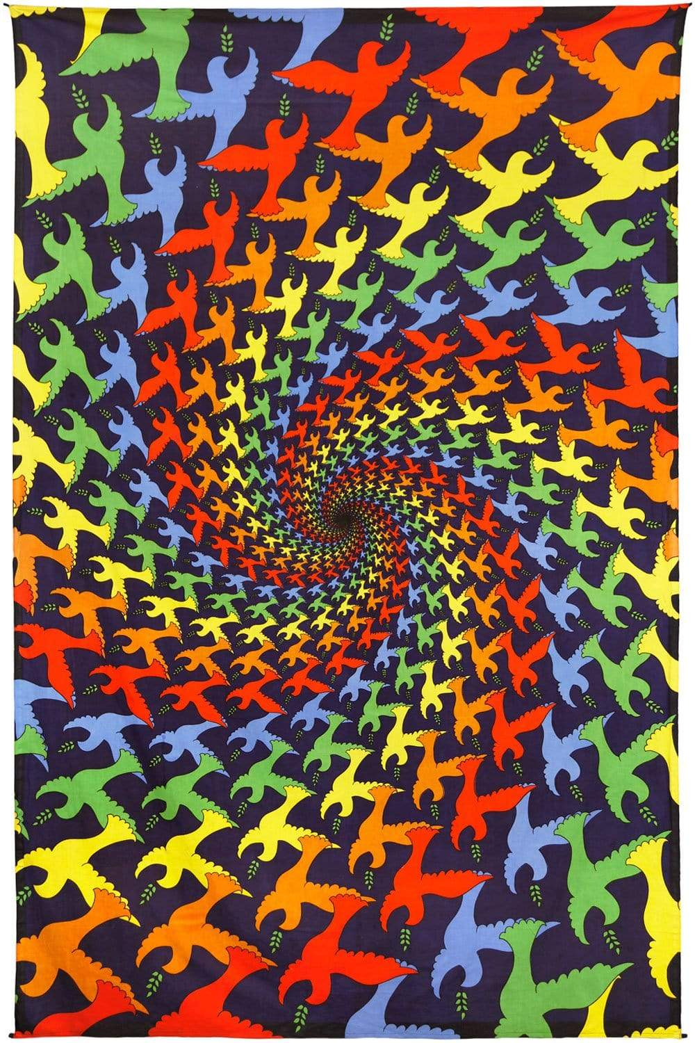 Tapestries 3D - Peace Dove Spiral - Tapestry 100066