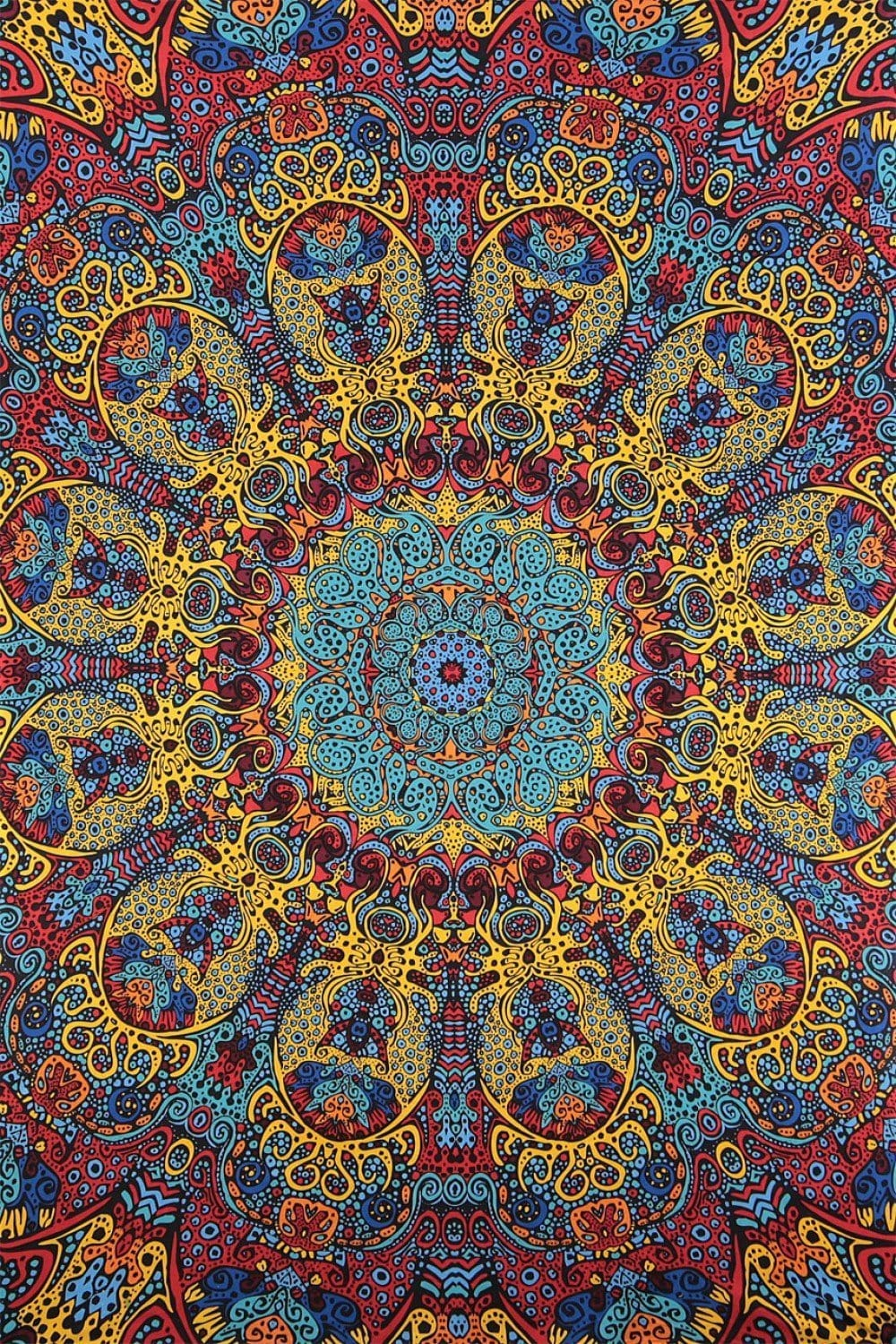Tapestries 3D - Psychedelic Sunburst - Tapestry 006272