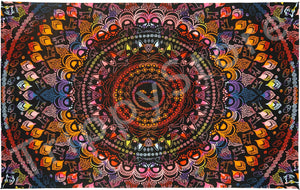 Tapestries 3D - Rainbow Cat Mandala - Tapestry 013544