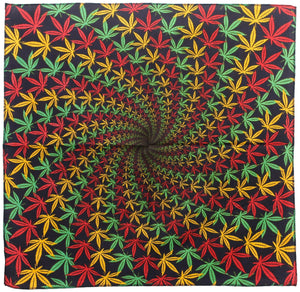 Tapestries 3D - Rasta Leaf Spiral - Small Tapestry 012221
