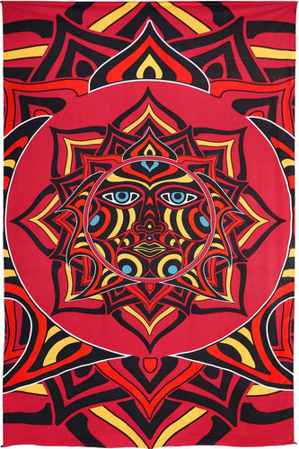 Tapestries 3D - Sun Face - Tapestry 100605