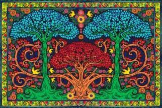 Tapestries 3D - Trippy Trees - Tapestry 100859
