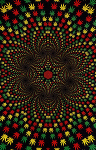 Tapestries 3D - Weed Vortex - Tapestry 009490