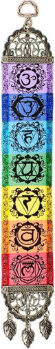 Tapestries 7 Chakras with Antiqued Metal Frame - Small Tapestry 010768