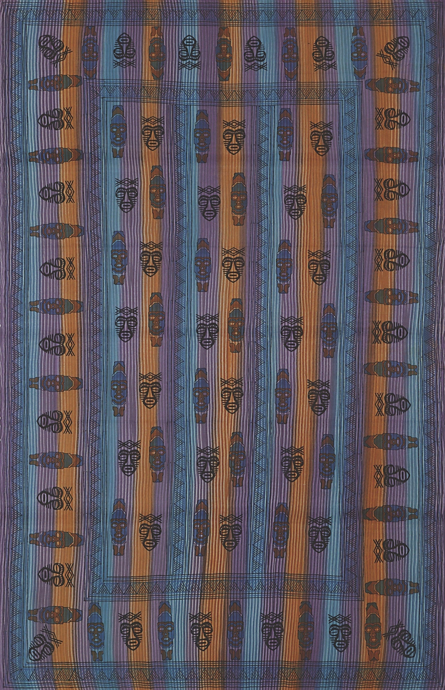 Tapestries African Mask - Multi-Color - Tapestry 001207