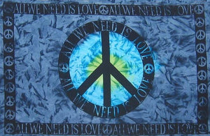 Tapestries All We Need is Love - Blue Tie-Dye - Tapestry 004493
