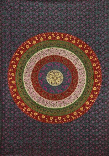 Tapestries Barhmeri Circle of Flowers - Tapestry 006763