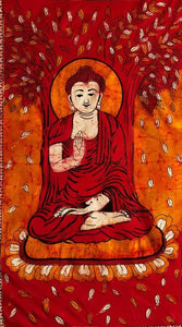 Tapestries Batik Buddha - Red and Orange - Tapestry 100354