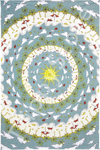 Tapestries Beach Mandala - Tapestry 013545