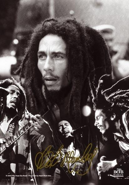 Tapestries Bob Marley - Jammin' Collage - Small Tapestry 000708